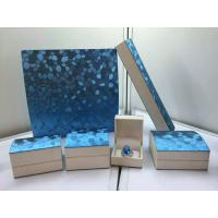 Best Blue Pearl Jewelry Plastic Box , Leatherette Gift Packaging Boxes wholesale