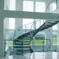 Cheap Curved Staircase / Modern Marble Staircase / Helical Staircase with Glass for sale