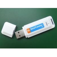 Best 8GB plastic USB pen Drive digital Audio voice Recorder White with Clock System wholesale