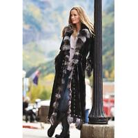 China Maertisa Mink Fur Coat with Silver Fox Fur Trim manufacturer wholesale with free shipping by express on sale