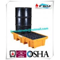 Quality Two Drum Spill Decks Containment Pallets Heavy Duty For Oils / Chemicals wholesale