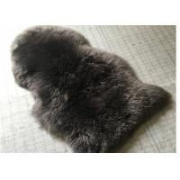 Cheap Real Sheepskin Rug Home Design Real Animal Fur Factory Direct Sale Dyed Brown for sale