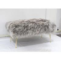 Best Genuine Mongolian fur Natural Curly Hair Tibet Lamb Fur Long Wool ottoman cover wholesale