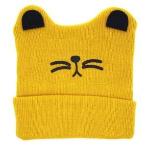 Cheap Boys Girls Cat Ear Lovely Baby Hats , Woolen Yarn Knit Keep Warm Hats Soft for sale
