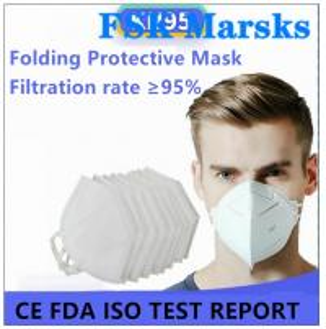 Best Enlarged Foldable N95 Dust Mask Excellent Bacterial Filtration Melt Blown wholesale