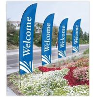 Best Double Sided Beach Flag Banner Sublimation Printing Aluminum / Fiberglass Poles wholesale