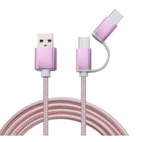 China Factory price 2 in 1 usb cable type-c and micro usb cable for android on sale