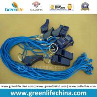 Best Cheap Plastic Whistle with Cord for Promotion Blue Transparent Whistle and Blue Combo wholesale