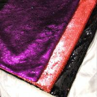 Best Multicolor Mermaid Sequin Textile Cloth Material Flip Two-tone Reversible Sequin Embroidery Fabric wholesale