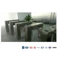Best Waist High Railway Access Control Turnstiles Stainless Steel Silver RFID Reader wholesale