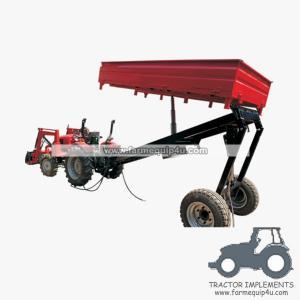 Best 2wheels tipper 3way hydraulic dump trailer small farm trailer wholesale