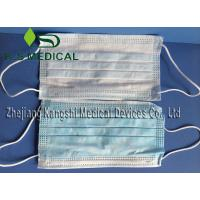 Best White / Blue Disposable Surgical Products Non Woven Face Mask 3ply wholesale