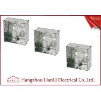 Best 75MM*75MM Steel Electrical Gang Box 20m 25mm Holes With Brass Terminal wholesale