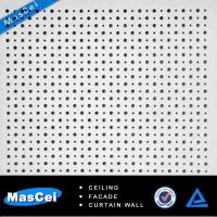 Cheap Sound Absorbing Ceiling Tiles and Round Hole Perforated Screen for sale