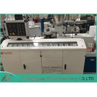 China PVC Electrical Pipe Manufacturing Machine With Conical Double Screw Extrude on sale