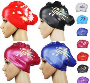 Cheap silicone siwm cap for long hair for sale
