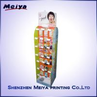 Best Double Side Girls Lipstick Hook Display Stand , Cardboard hook display rack Printed wholesale