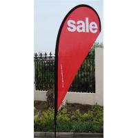 Best Outdoor Advertising Teardrop Flag Signs With Full Fiberglass Pole wholesale