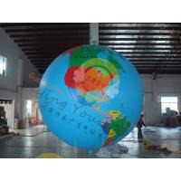 Cheap Custom 5m PVC Durable Inflatable Globe Ball Helium For Tade Show for sale