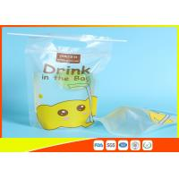 Best Custom Printed Stand Up Pouches Transprant Beverage Packaging Bags For Juice / Milk wholesale