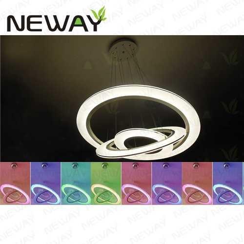 cheap modern led ring light arcylic circle led pendant