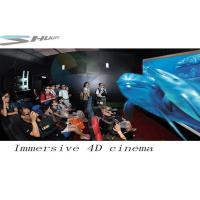Best 4D Movie Theater With Motion Chair Seat, Special Effect System, Flat / Arc Screen wholesale