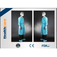 Buy cheap Non Toxic Disposable Patient Gowns, Disposable Barrier Gowns For Fluid Prevention from wholesalers