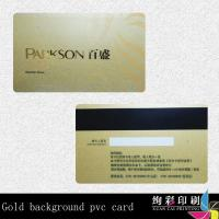 Best Customized Clear PVC Rounded Corner Business Cards Gold Hot Stamping wholesale