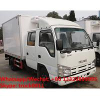 Best High quality 2018s Japan ISUZU 4*2 LHD double cabs 2tons fresh meat cooling van truck for sale, refrigerator truck wholesale