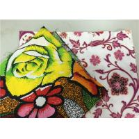 Beautiful Polyester Cotton Floral Batik Fabric African Wax Cloth For Hand Bag