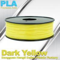 Best Makerbot Material Fluorescent Dark Yellow PLA 3d Printer Filament 1.75mm / 3.0mm wholesale