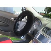 Cheap Natural / Dyed Color Sheepskin Steering Wheel Cover With Diameter 38cm for sale
