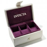 INVICTA BRAND NEW WHITE LEATHER 3-SLOT WATCH BOX STORAGE CASE