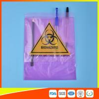 Best Medical / Laboratory Specimen Transport Bags Plastic Resealable With Document Pouch wholesale