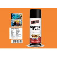 Best MSDS Graffiti Spray Paint , Outdoor Spray Paint With  Orange Yellow Color wholesale