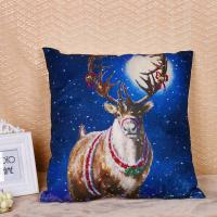 Best Linen / Cotton Pillow Cushion Covers With Printed Santa Claus Elk Pattern wholesale