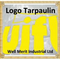 White Color Logo Printed  Relief Tarpaulin  Outdoor Sheet Tarps with Logo Manufacture