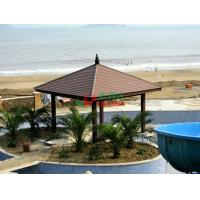 Best Plastic Wood Composite Custom Made Gazebo Waterproof Weather Resistant On The Beach Seaside wholesale