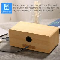 Best USB Bluetooth Music Receiver Car 3.5mm Audio Adapter for Amplifier Speaker wholesale
