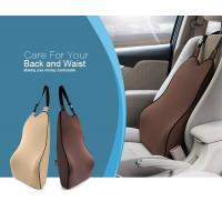 Best Luxurious Firm Memory Foam Cushion Backwards ,  Car Seat Comfort Cushion With Buckle wholesale