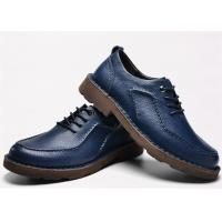Best Latest Hand Sewing Blue Comfortable Casual Shoes Moc Toe Four Seasons Available wholesale