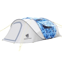 Best Camouflage 6 Person L360cm Pop Up Camping Tent wholesale