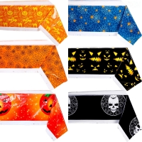 Best Plain Dyed 54x108'' Gravure Printing Plastic Table Cover For Halloween wholesale