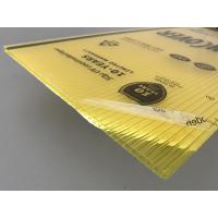 Best Yellow Color Polycarbonate Twin Wall Roofing Sheets 4mm - 10mm Thickness wholesale