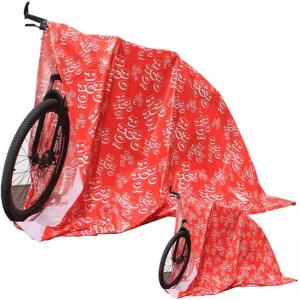 Best 2mils Gravure Printing Christmas Bike Bags 60x70 Inch With Gift Tags wholesale