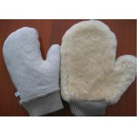Best Thumb Design Sheepskin Car Wash Mitt With Non Scratching Fabric Upside wholesale