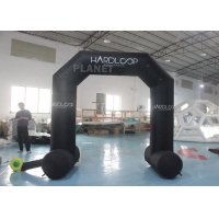 Best Oxford Mini Advertising Cartoon Inflatable Entrance Arch Outdoor Black wholesale
