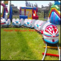 China OUTDOOR kiddie electric trains, rocket electric train playground on sale