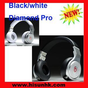 China Black/white monster diamond pro headphones by beats dr dre on sale