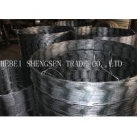 Best Ss005 Galvanized Razor Barbed Wire , Concertina Razor Wire 0.5mm Thickness wholesale